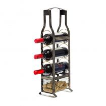 метална поставка за бутилки 55 см