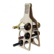 дървена поставка за бутилки 51 см