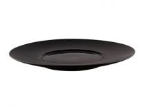 порцеланова чиния SHOW черна 25 см