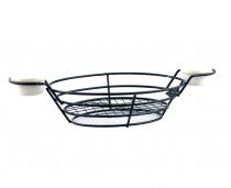 кошница за сервиране с два рамекина