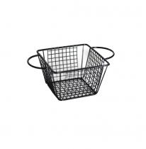 метална черна кошничка за сервиране квадртана