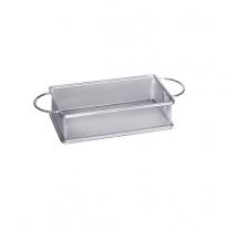 Метална кошничка за сервиране с две дръжки 21*11*6 см, хром