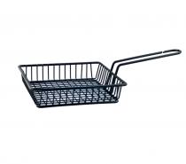 метална черна кошничка за сервиране квадрат