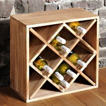 етажерка за вино от бор