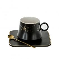 чаша за топли напитки ИСКРИ чинийка лъжичка