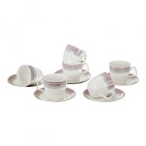сервиз за кафе и чай розово 12 части