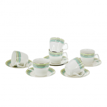сервиз за кафе и чай зелено 12 части
