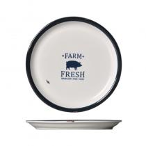 кръгла порцеланова чиния 22 см HAPPY FARM