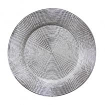 подложна чиния WICKED сребриста