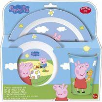 детски пластмасов сервиз за хранене Peppa Pig