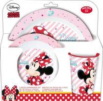 пластмасов детски сервиз за хранене minnie mouse
