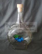 стъклена бутилка за сливова ракия