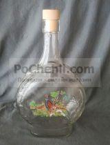 стъклена бутилка за ракия с фазан