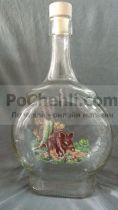стъклена бутилка за ракия Глиган