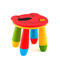 детско столче мече червено