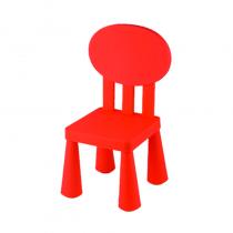 детско столче с овална облегалка червено