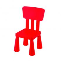 детско столче с правоъгълна облегалка червено
