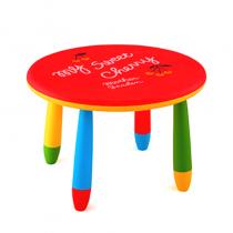 детска маса кръг червена