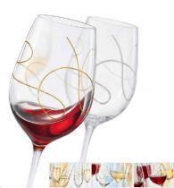 гравирани чаши за двама със златисто