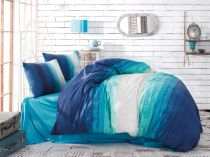 спално бельо марин синьо памук