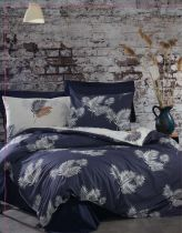 спален комплект в синьо 100% памук