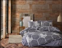 спално бельо в сиво българско памук
