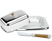 Съд за масло + ножче, серия GRIGIO