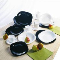 Сервиз за хранене Luminarc Carin, черно-бял 31209