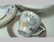 """Порцеланов сервиз за чай """"Сиви рози"""", 12 части 6668 - Pochehli"""