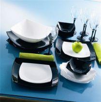 Сервиз за хранене Luminarc Quadrato черно-бял, 19 части