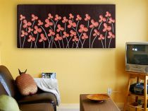"Картина пано ""Червени цветя"", 100 * 50 см 9175 - Pochehli"