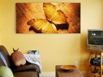 "Картина пано ""Жълта пеперуда"", 110 * 50 см 8300 - Pochehli"