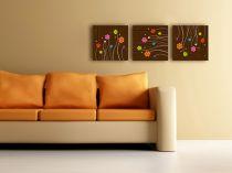 "Картина пано ""Цветя"", 3 бр. 40 * 40 см 5448 - Pochehli"