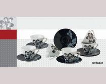 Чаши за кафе порцелан в черно и бяло 38498