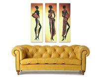 """Картина пано """"Африканки"""", 3 бр. 30 * 90 см 6689 - Pochehli"""