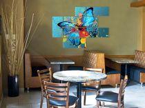 """Картина пано """"Синя пеперуда"""", модули, 150 * 115 см"""