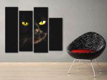 "Картина пано ""Черна котка"", 100 * 80 см 5904 - Pochehli"