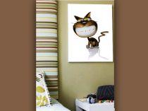 """Детска картина пано """"Веселата котка"""", 40 * 50 см"""