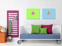 """Детска картина пано """"Усмивки"""", 2 бр. 40 * 30 см 6455 - Pochehli"""