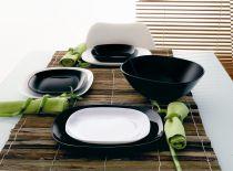 Комплект от 6 чинии за десерт Luminarc Sweet Line, черно или бяло 8687 - Pochehli