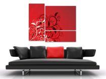 "Картина пано ""Феерия в червено"", 110 * 90 см 6509 - Pochehli"