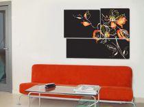 """Картина пано """"Феерия в черно"""", 120 * 80 см 7136 - Pochehli"""