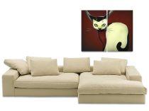 """Картина пано """"Коте"""", кафяв фон 85 * 70 см 5316 - Pochehli"""