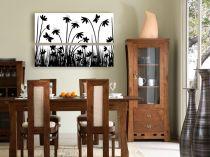 "Картина пано ""Цветя и пеперуди"", 100 * 70 см 10384 - Pochehli"