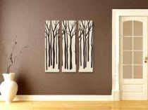 "Картина пано ""Зимни дървета"", 3 бр. 25 * 100 см 6881 - Pochehli"