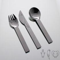 Детски комплект прибори за хранене Jungle, 3 части, Herdmar 6358 - Pochehli