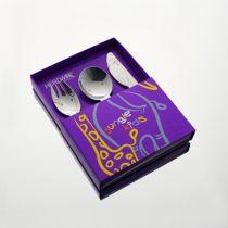 Детски комплект прибори за хранене Jungle, 3 части, Herdmar