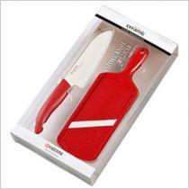 Комплект керамичен нож за готвене с ренде, Kyocera