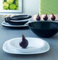 Сервиз за хранене Luminarc Carine, черно-бял, 19 части