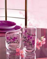 Чаши за вода Luminarc Kashima Purple, 330 мл, 3 бр.